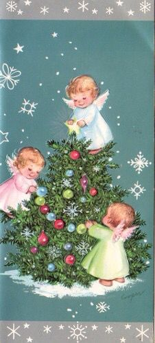 Árbol de Navidad con angelitos