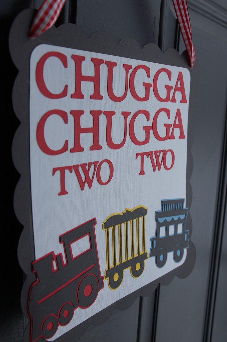 Train Door Sign, Train Party, Train Party Supplies, Choo Choo, All Aboard, Happy Birthday, Chugga Chugga Two Two by GiggleBees on Etsy https://www.etsy.com/listing/127807408/train-door-sign-train-party-train-party