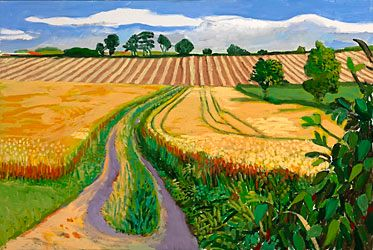 A year in Yorkshire by David Hockney  http://www.hockneypictures.com/images/4-galleries/yorkshire_paintings/05C03.jpg