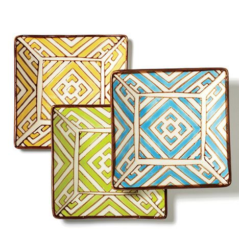 Jayson Home Moroccan appetizer plates, $10 each