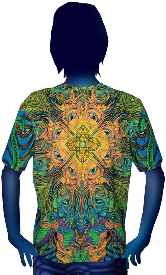 Psychedelic t-shirt All over printed shirt by SpaceTribeClothing