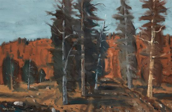 Stanley Morel Cosgrove CAS CGP QMG RCA 1911 - 2002 Canadian  Forest oil on canvas  24 x 36 in  61 x 91.4 cm