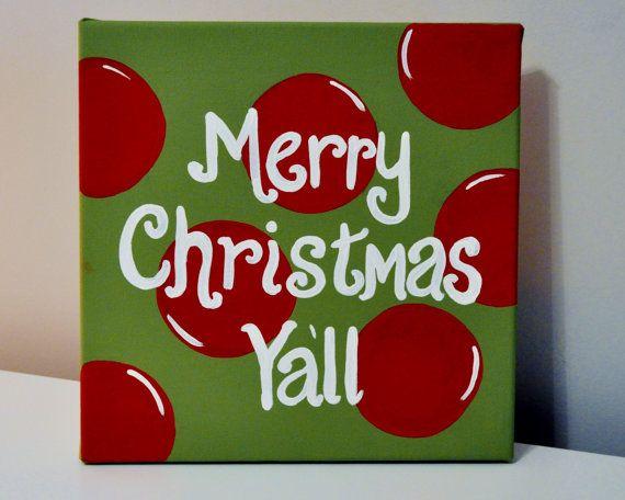 Christmas Wall Art Merry Christmas Ya'll by AprilGetsCrafty