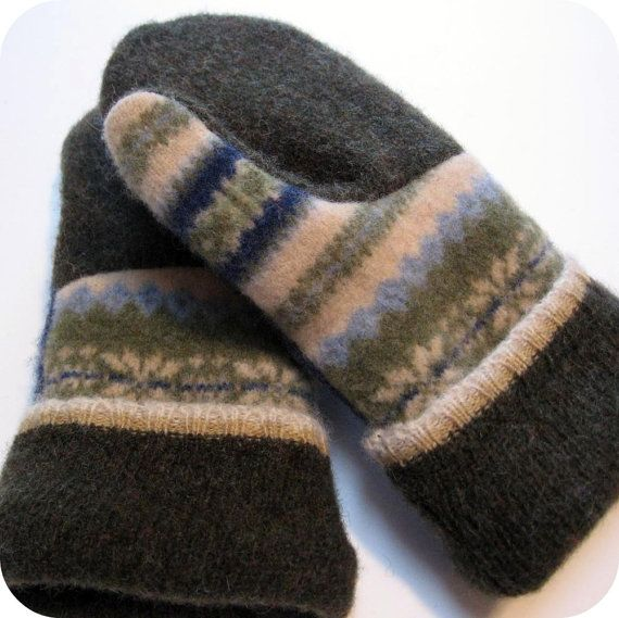 Image result for mittens made out of old wool sweaters