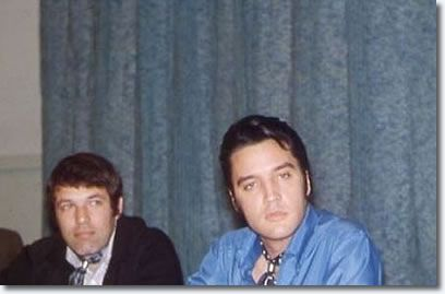 Steve Binder (Producer/Director) and Elvis Presley during the 68' comeback special - press conference June 25, 1968