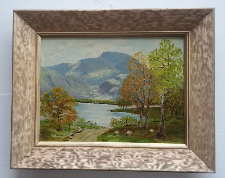 "E. Bennett (1800-    ) - Listed British Artist - Antique Oil / Board - 12""x16""   #Realism"