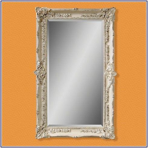 Phenomenal Antique White Floor Mirror