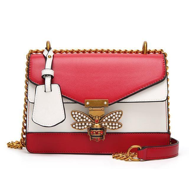 Women Color Splicing Little Bee Bags Zipper Designer Handbag Casual Shoulder  Messenger Bag 9ece628fcc70