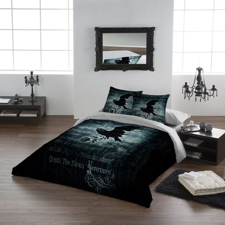 on covers cover nevermore set comforter bed double images black gothic pinterest duvetdivas duvet alchemy sets best