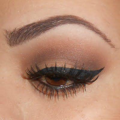 Natural smoky eye for brown eyed bombshells!