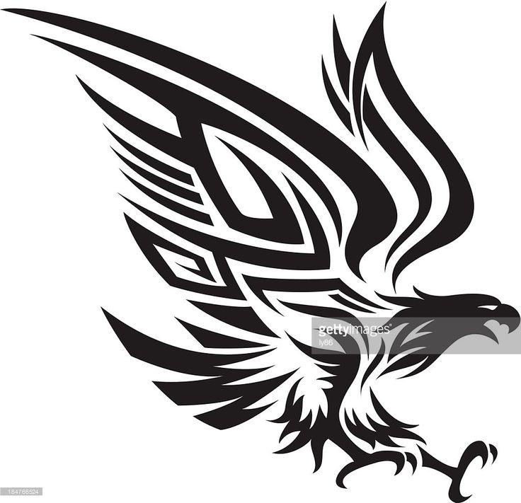 Vector Art : Tribal eagle