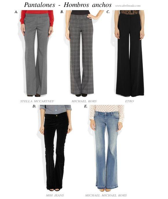 Pantalones-recomendados-para-hombros-anchos...Excelente Tip