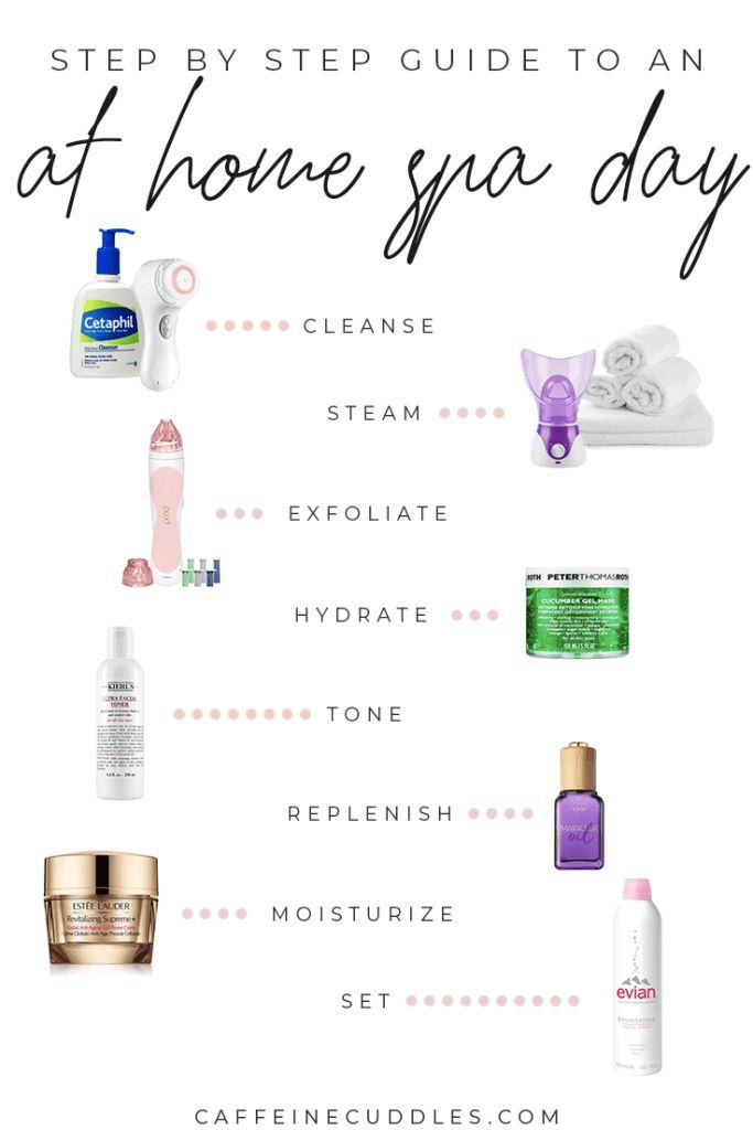 Beauty Day Diy Facial Home Simple Spa Steps Diy Beauty At Home Spa Day 8 Simple Steps For A Diy At Home Facial Diy Spa Day Home Spa Spa Night