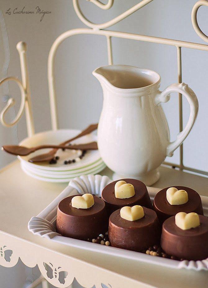 Pasteles de chocolate y Oreos para San Valentin. Receta paso a paso.
