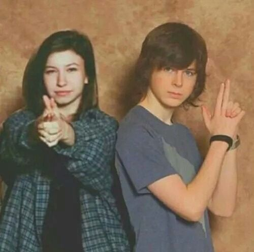 Chandler Riggs & Katelyn Nacon