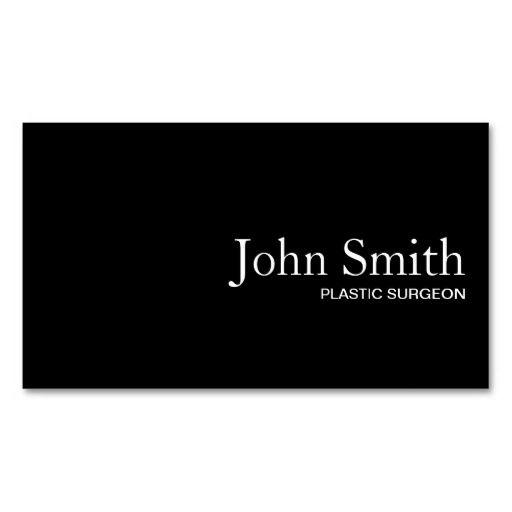 73 best physiciansurgeon business cards images on pinterest black qr code plastic surgeon business card colourmoves