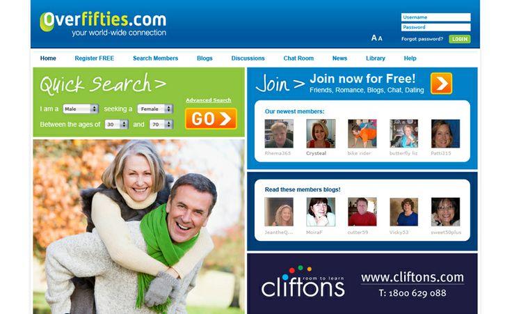 Website design for Over Fifties. #websitedesign #webdesign #web #design #graphicdesign #website #websites