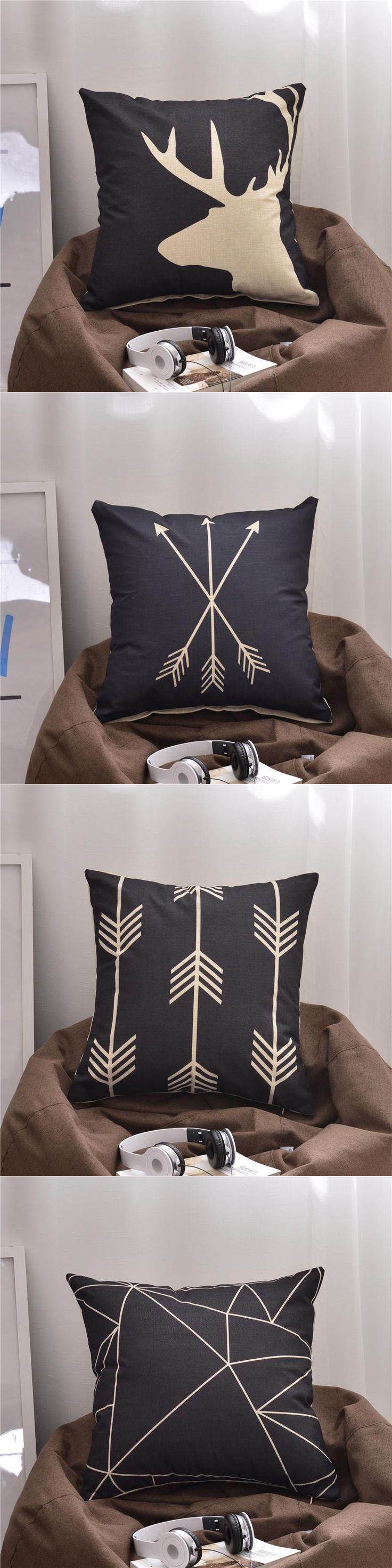 Geometric Cushion Seat Bolster Home Decor Pillow Car Cushion Sofa Pillows 18x18in Office Chair Seat Back Support
