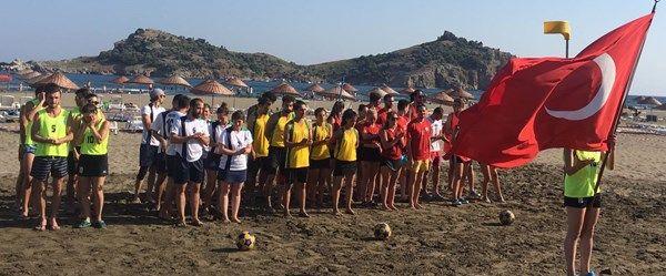 Türkiye Plaj Korfbol Şampiyonası Muğla'da başladı
