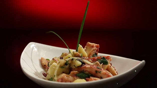 MKR4 Recipe - Mediterranean Octopus with Potato Salad