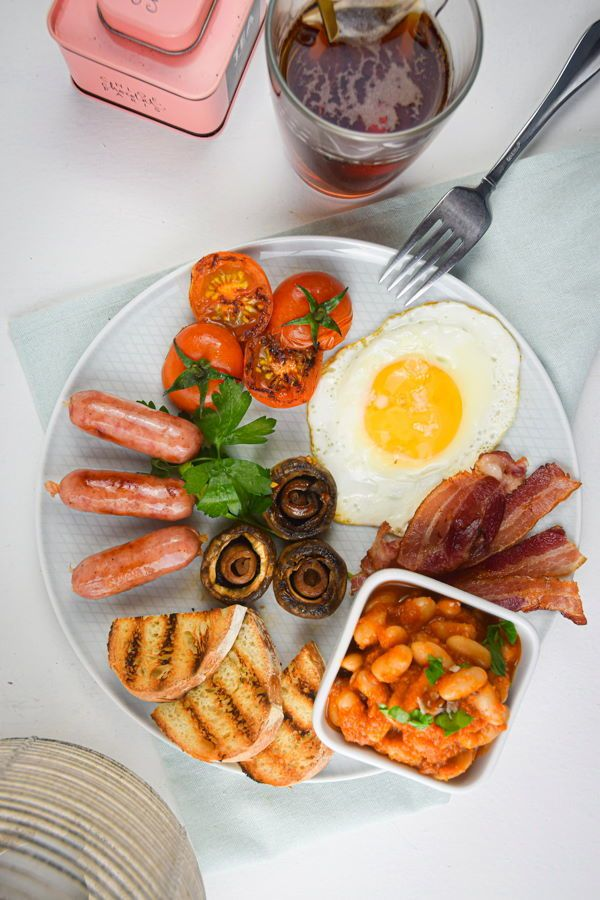 Electric Skillet Full English Breakfast Recipe Health Food Breakfast English Breakfast Foods Breakfast Platter