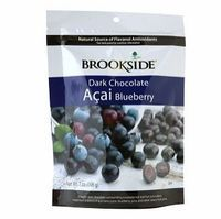 Looks healthy, tastes divine, but watch out for calories: Brookside Dark Chocolate Blueberry Acai Candy Review #chocolate