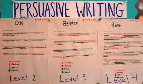 success criteria for writing a persuasive leaflet