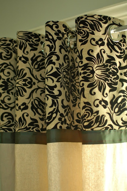 Drop cloth curtains and grommets