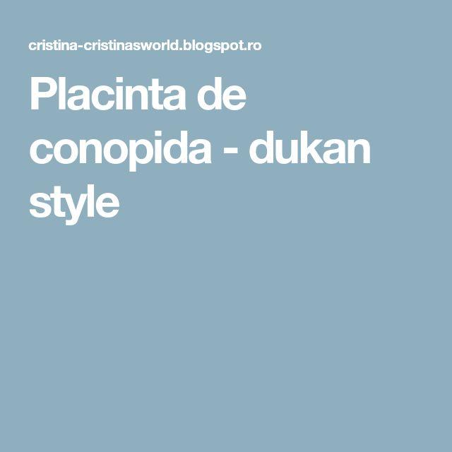 Placinta de conopida - dukan style