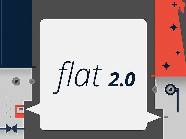 Flat 2.0 is about subtle changes, a natural evolution to the design. It is not about rebelling against the current trends but about enhancing those trends with simple shapes and gradients.
