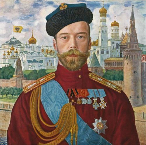 1915 Tsar Nicholas II by Boris Kustodiev (1878~1927)