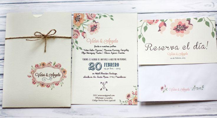 Partes de matrimonio románticos, florales