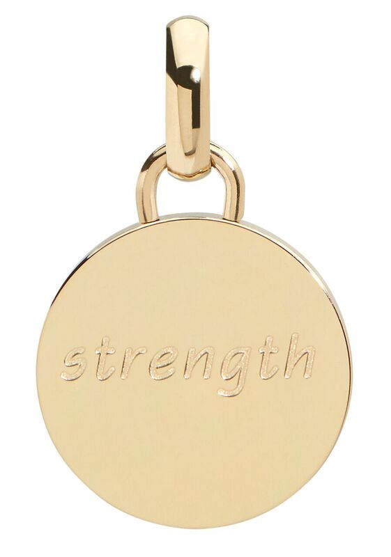Strength pendant, 15mm, gold