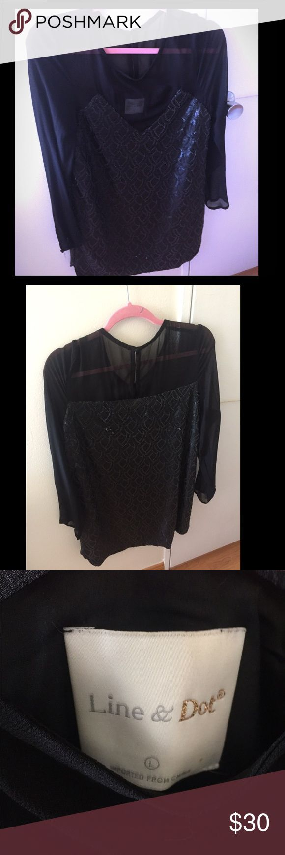 T-shirt design zeixs - Line Dot Black Sequin Cocktail Dress L Reposhing This Cute Cocktail Dress By Line