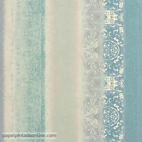 Mejores 25 im genes de papel pintado instant casamance en for Papel pintado azul y plata