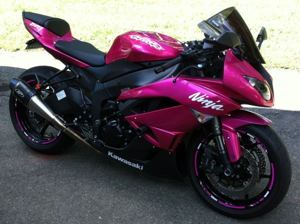 Hot Pink Motorcycle | 2009 Kawasaki Ninja Zx MotorcyclesSplit Fashionalities