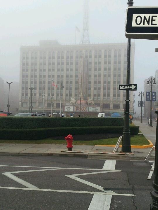 Fox theater in fog
