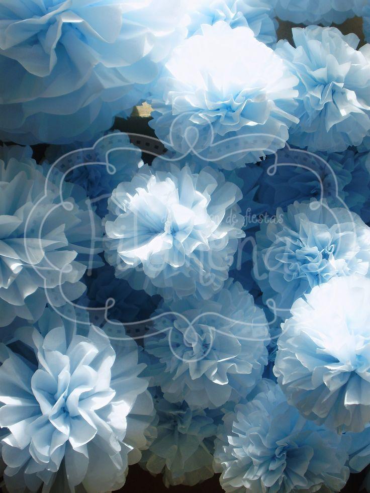 Pompones papel de seda