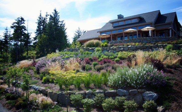 Top 50 Best Slope Landscaping Ideas Hill Softscape Designs With Images Sloped Backyard Landscape Design Modern Landscaping