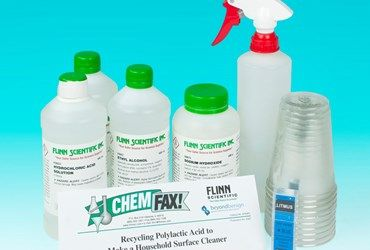 Making a Household Surface Cleaner Green Chemistry Laboratory Kit developed with Beyond Benign