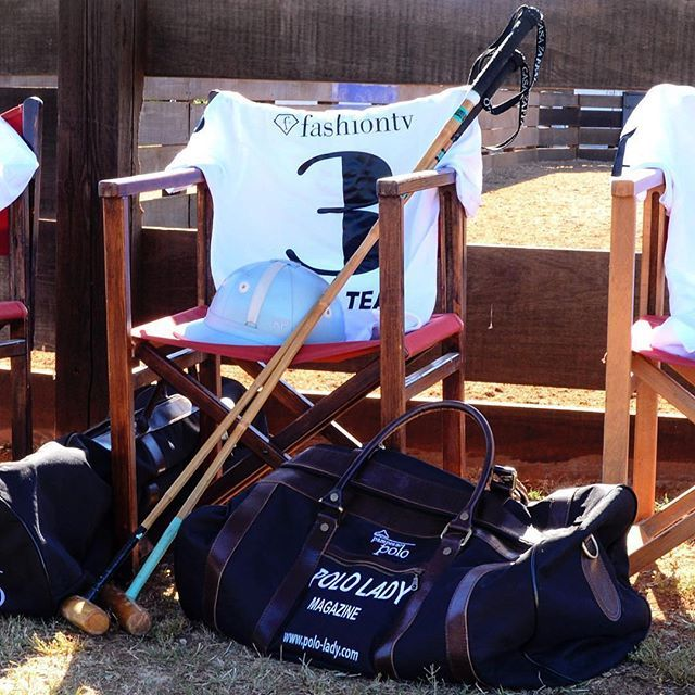 POLO LADY Magazine featuring a #pampeano #bespoke #embroidered #kitbag/#sports bag. Luxury Argentine leather and canvas navy bag. For your own bespoke #polokit contact customer.services@pampeano.co.uk