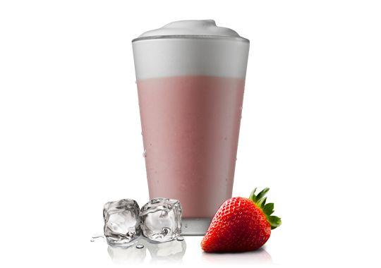 iced strawberry milk