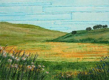 Machine Embroidered Landscape by Wendy Dolan