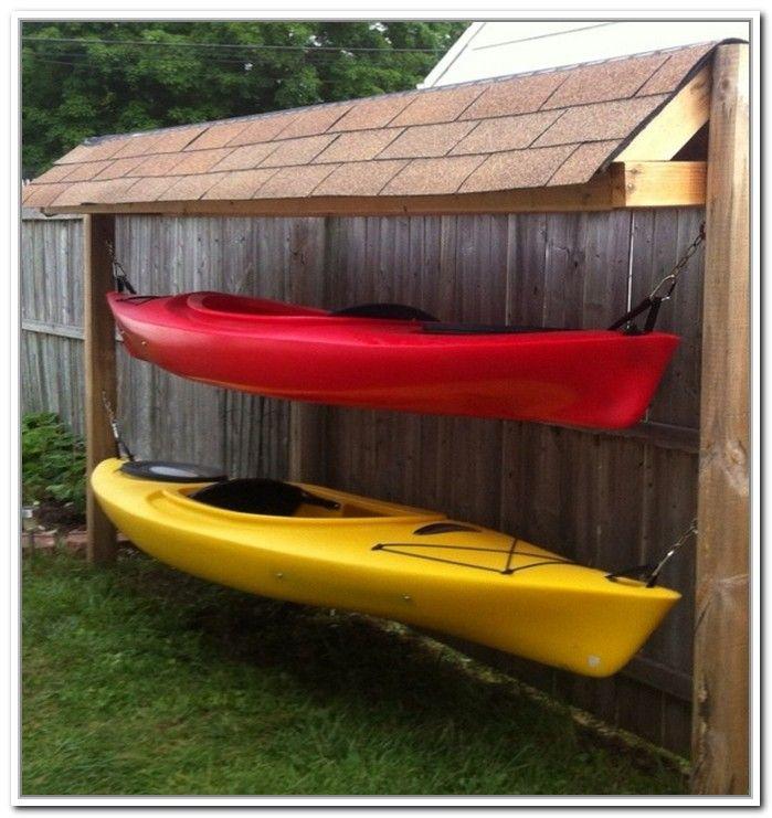 Outdoor Kayak Storage Ideas                                                                                                                                                                                 More