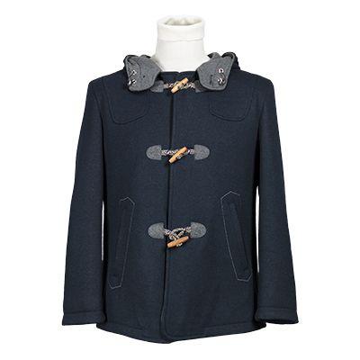 Giaccone uomo con cappuccio in jersey - Blu - Invernale. € 169,20. #hallofbrands #hob #jackets #coats #giubbotti #giaccone #invernale #wintry #winter