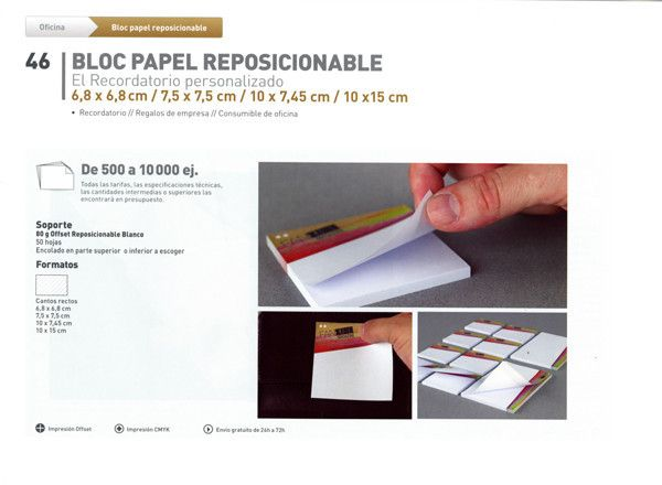 DISTRIPAPER bloc de papel reposicionable, recordatorio, regalos de empresa, consumibles de oficina,