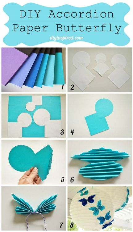 DIY Accordion Paper Butterflies Tutorial with ASTROBRIGHTS® Colorize