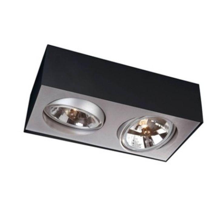 Van het design merk Lirio een stoer uitziende spot met als lichtbron de 50Watt 12Volt QR111 halogeen lamp. De spot wordt uitgevoerd met een elektronische trafo
