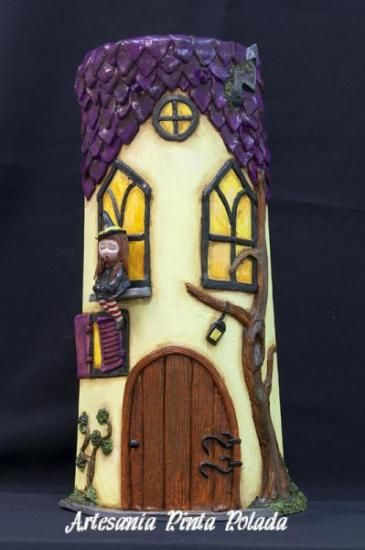 teja teja de barro cocido modelado,pintado