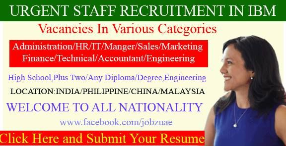Multiple Jobs Ibm Accommodation Free Visa Ticket Benefits Ibm Hiring Now Staff Recruitment